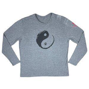 Discover Your Chi Ying Yang Gray Long Sleeve Shirt